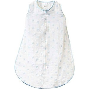 Спальный мешок SwaddleDesigns Muslin zzZipMe Sack - 3-6M Blue Dots (SDM-401 B-S) спальный мешок swaddledesigns для новорожденного zzzipme sack 3 6m flannel sc elephant and chickies sd 462sc 3m
