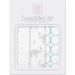 Набор пеленок SwaddleDesigns SwaddleLiteSC Elephant/Chickies (SD-478SC)
