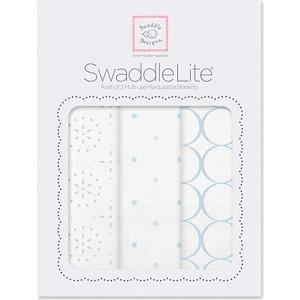 Набор пеленок SwaddleDesigns SwaddleLite Sparklers Blue (SD-443B)