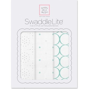 Набор пеленок SwaddleDesigns SwaddleLite Seacrystal Sparklers Lite (SD-443SC)