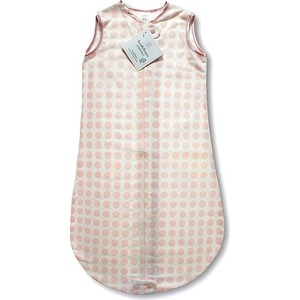 Спальный мешок SwaddleDesigns для детей TOG 0.7 zzZipMe Sack 3-6 M - Organic Flannel PP Dots and Hearts (SD-102PP)