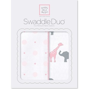 Набор пеленок SwaddleDesigns Swaddle Duo Pink Circus Fun (SD-494P)