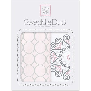 Набор пеленок SwaddleDesigns Swaddle Duo Pink Mod Medallion (SD-358P)