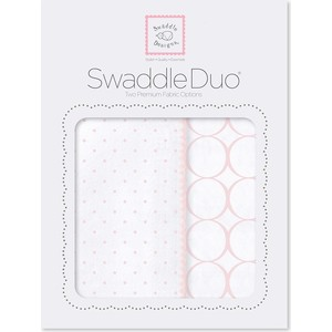 SwaddleDesigns Swaddle Duo Swaddle Duo Pstl Pink Classic (SD-186PP) ahava набор duo deadsea mud набор дуэт
