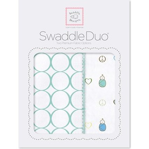 Набор пеленок SwaddleDesigns Swaddle Duo SC Peace/LV/SW (SD-187SC)