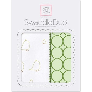 Набор пеленок SwaddleDesigns Swaddle Duo KW Big Chickies (SD-188PG)  бра lussole bagheria lsf 6291 02