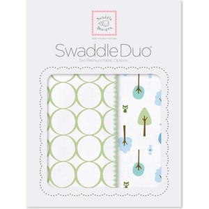 Набор пеленок SwaddleDesigns Swaddle Duo KW Cute and Wild (SD-184KW) набор пеленок swaddledesigns swaddle duo seacrystal little fox