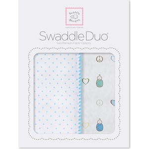 Набор пеленок SwaddleDesigns Swaddle Duo BL Peace/LV/SW (SD-185B) prestige sw 1098 cf bl