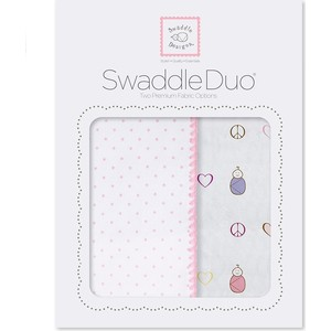 Набор пеленок SwaddleDesigns Swaddle Duo PK Peace/LV/SW (SD-185P)