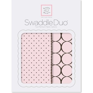 Набор пеленок SwaddleDesigns Swaddle Duo Pstl Pink Modern (SD-180PP)
