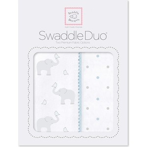 Набор пеленок SwaddleDesigns Swaddle Duo Swaddle Duo PB Elephant/Chickies (SD-461PB)