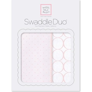 Набор пеленок SwaddleDesigns Swaddle Duo PP Dot/Mod Circle (SD-472PP) набор пеленок swaddledesigns swaddle duo seacrystal little fox