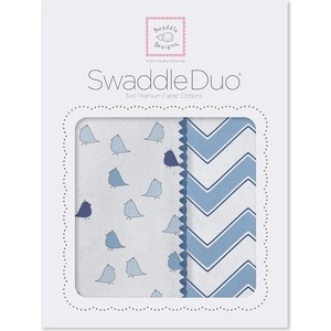 Набор пеленок SwaddleDesigns Swaddle Duo BL Chickies/Chevron (SD-470B)