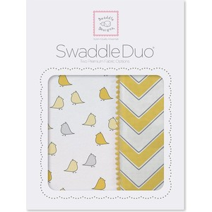 Набор пеленок SwaddleDesigns Swaddle Duo Y Chickies/Chevron (SD-470Y)