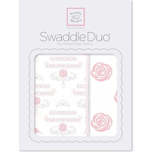 Набор пеленок SwaddleDesigns Swaddle Duo Rose Royal (SD-491P)