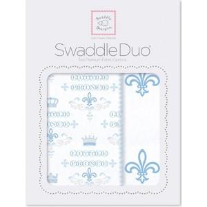 SwaddleDesigns Swaddle Duo Fleur de Lis (SD-491B) ahava набор duo deadsea mud набор дуэт