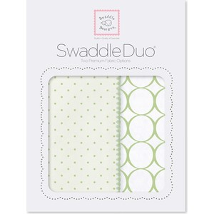 Набор пеленок SwaddleDesigns Swaddle Duo KW Dot/Mod Circle (SD-472KW) dot