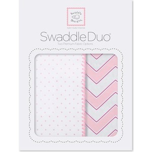 Набор пеленок SwaddleDesigns Swaddle Duo Pink Classic Chevron (SD-484P)