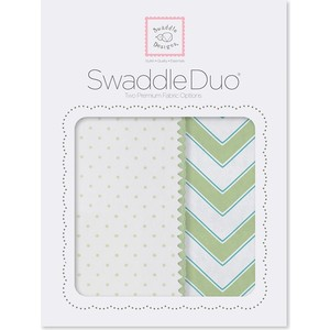 SwaddleDesigns Swaddle Duo KW Classic Chevron (SD-484KW) ahava набор duo deadsea mud набор дуэт