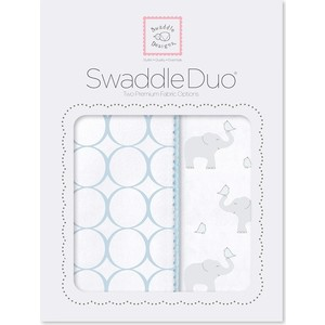 SwaddleDesigns Swaddle Duo PB Elephant and Chickies Mod Duo (SD-474PB) ahava набор duo deadsea mud набор дуэт