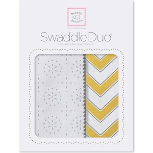 Набор пеленок SwaddleDesigns Swaddle Duo Yellow Chevrons (SD-361Y) набор пеленок swaddledesigns swaddle duo seacrystal little fox