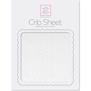 Детская простынь SwaddleDesigns Fitted Crib Sheet Kiwi Dot (SD-150KW)