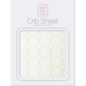 Детская простынь SwaddleDesigns Fitted Crib Sheet - Organic Kiwi Mod C on IV (SD-156KW)
