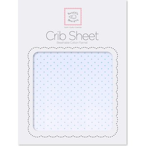 Детская простынь SwaddleDesigns Fitted Crib Sheet Lt. PB w/PB Dots (SD-157PB) scalloped fitted