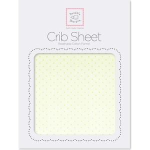Детская простынь SwaddleDesigns Fitted Crib Sheet Lt. KW w/KW Dots (SD-157KW)
