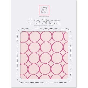 Детская простынь SwaddleDesigns Fitted Crib Sheet Very Berry Mod (SD-436VB)
