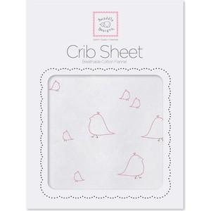 Детская простынь SwaddleDesigns Fitted Crib Sheet Pink Chickies (SD-447P)