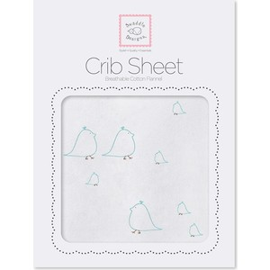 Детская простынь SwaddleDesigns Fitted Crib Sheet SeaCrystal Chickies (SD-447SC)