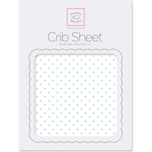 Детская простынь SwaddleDesigns Fitted Crib Sheet SeaCrystal Dot (SD-150SC) swaddledesigns простынь детская fitted crib sheet pink paisley 70 х 132 см