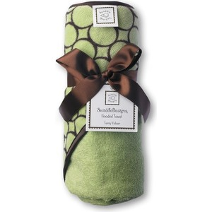 Полотенце с капюшоном SwaddleDesigns Полотенце с капюшоном Hooded Towel Lime w/BR Mod C (SD-060LM)