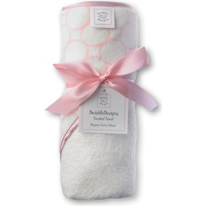 ��������� � ��������� SwaddleDesigns ��������� � ��������� Hooded Towel - Organic Pink Mod on IV (SD-071PP)
