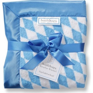 ������� ���� SwaddleDesigns Stroller Blanket Bavarian Rhombus Blue(SD-B020B)