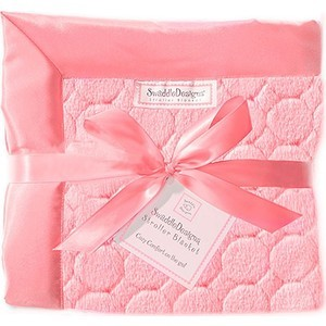 Детский плед SwaddleDesigns Stroller Blanket Pink Puff Circles(SD-168P)