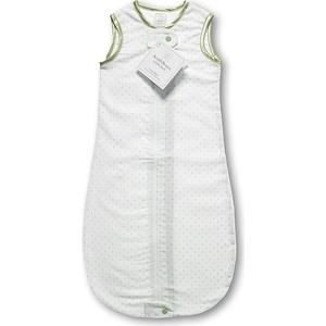 Спальный мешок SwaddleDesigns для новорожденного zzZipMe Sack 3-6M Flannel Kiwi Polka Dots (SD-098KW)