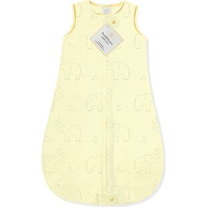 Спальный мешок SwaddleDesigns zzZipMe Sack (3-6) Yellow/Sterling Deco Elephant (SD-354SY-3M) спальный мешок swaddledesigns для новорожденного zzzipme sack 3 6m flannel sc elephant and chickies sd 462sc 3m