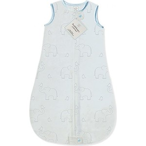 Спальный мешок SwaddleDesigns zzZipMe Sack (3-6) Blue/Sterling Deco Elephant (SD-354SB-3M)
