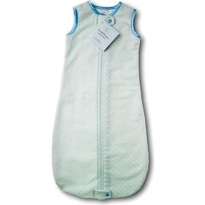 Спальный мешок SwaddleDesigns для новорожденного zzZipMe Sack 6-12M Flannel Lt PB w/PB Dots (SD-104PB-6M)