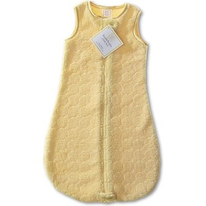 Спальный мешок SwaddleDesigns zzZipMe 3-6 М Yellow Puff Circle (SD-166Y-3M) спальный мешок swaddledesigns для новорожденного zzzipme sack 3 6m flannel sc elephant and chickies sd 462sc 3m
