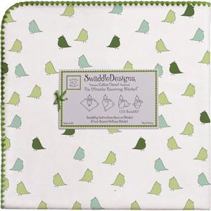 Фланелевая пеленка SwaddleDesigns для новорожденного PG Lt. Chickies (SD-404PG)