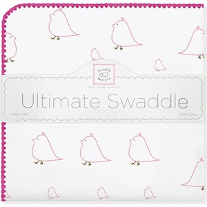 Фланелевая пеленка SwaddleDesigns для новорожденного Pink Chickies (SD-162P) фланелевая пеленка swaddledesigns дл�� новорожденного bt blue polka dot sd 001b