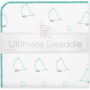 Фланелевая пеленка SwaddleDesigns для новорожденного SeaCrystal Chickies (SD-162SC)