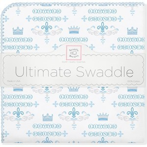 Фланелевая пеленка SwaddleDesigns для новорожденного PB Little Prince (SD-414PB) фланелевая пеленка swaddledesigns для новорожденного pb elephants chicks sd 460pb