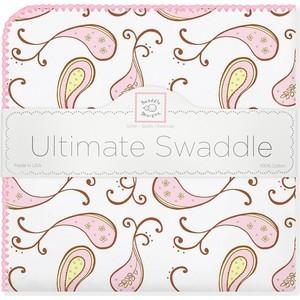 Фланелевая пеленка SwaddleDesigns для новорожденного Pink Paisley (SD-120PP) фланелевая пеленка swaddledesigns для новорожденного pink chickies sd 162p