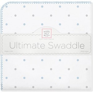 Фланелевая пеленка SwaddleDesigns для новорожденного BL/Sterling Lt Dot (SD-412PB) фланелевая пеленка swaddledesigns для новорожденного yw big dot lt dot sd 492y