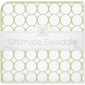 Фланелевая пеленка SwaddleDesigns для новорожденного Kiwi Mod on WH (SD-022KW) kim cd