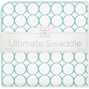 Фланелевая пеленка SwaddleDesigns для новорожденного SeaCrystal Mod/WH (SD-022SC)